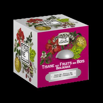 Tisane aux Fruits des Bois Bio Cube en métal 24 sachets