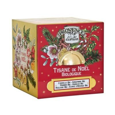 Tisane de Noël Bio Cube en Métal 24 sachets