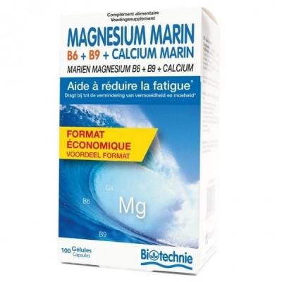 Magnésium Marin B6+B9+Calcium Marin 100 gélules