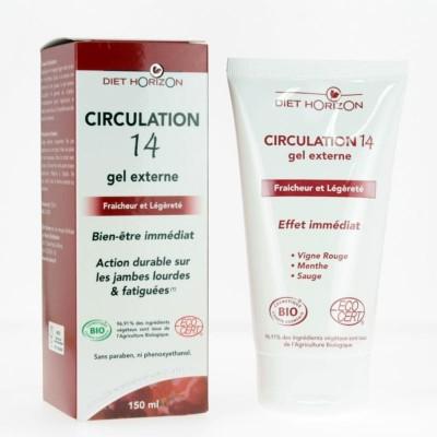 Circulation 14 Gel Externe Bio - 150 ml