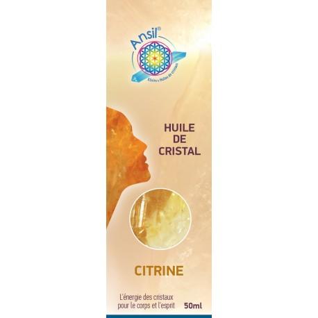 Huile de cristaux Citrine - 50ml