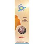 Huile de cristaux Grenat - 50ml