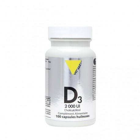 Vitamine D3 200 UI 100 capsules
